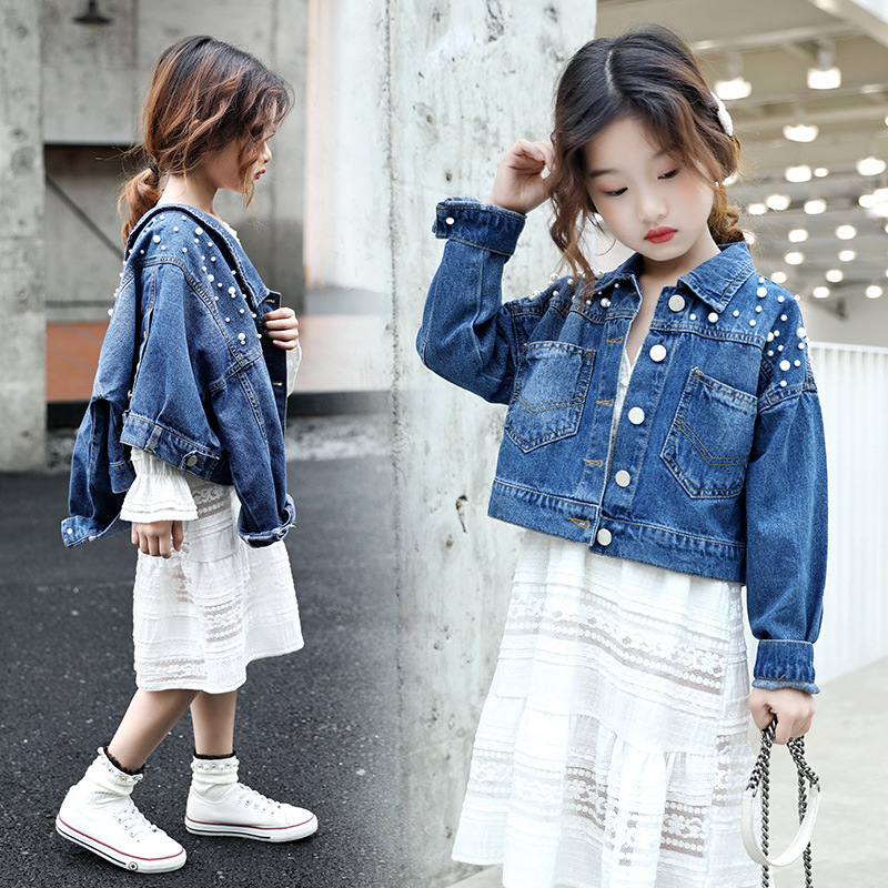 Teen Girls Clothing Set Kids Clothes Mesh Girls Denim Jackets Dress Suit for Children Clothes Spring Girls Outfits 10 12 Years