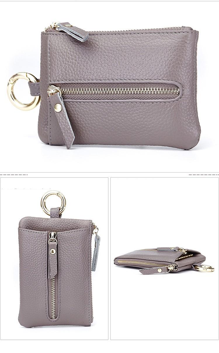 Women genuine leather key wallet 10-1