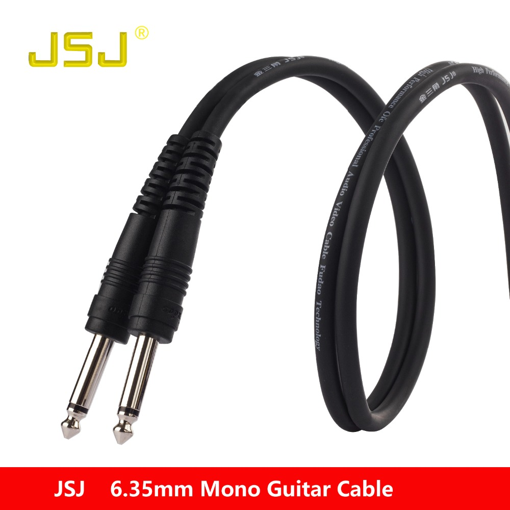 jsj pro audio instrument cable ts mono male to male audio cable for guitar bass mixer. Black Bedroom Furniture Sets. Home Design Ideas