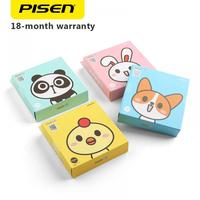 PB PISEN Cute 5V/2A Power Bank 10000mAh Portable External Battery Charger LED Flashlight Powerbank Battery Pack Backup