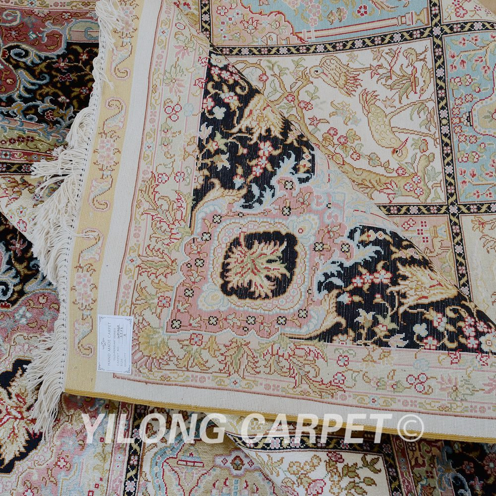 Yilong 5.5'x8 'Fars dörd mövsümü xalça düzbucaqlı Türk əl - Ev tekstil - Fotoqrafiya 6