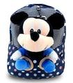 2015 ratón de dibujos animados mochila infantil mochila lindo jardín de infantes los niños de los bebés de algodón suave bolsa de felpa de la mochila