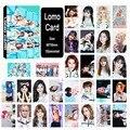 Kpop youpop twice álbum lomo cartões k-pop moda de nova auto moldura feita de papel cartão hd lk393 photocard