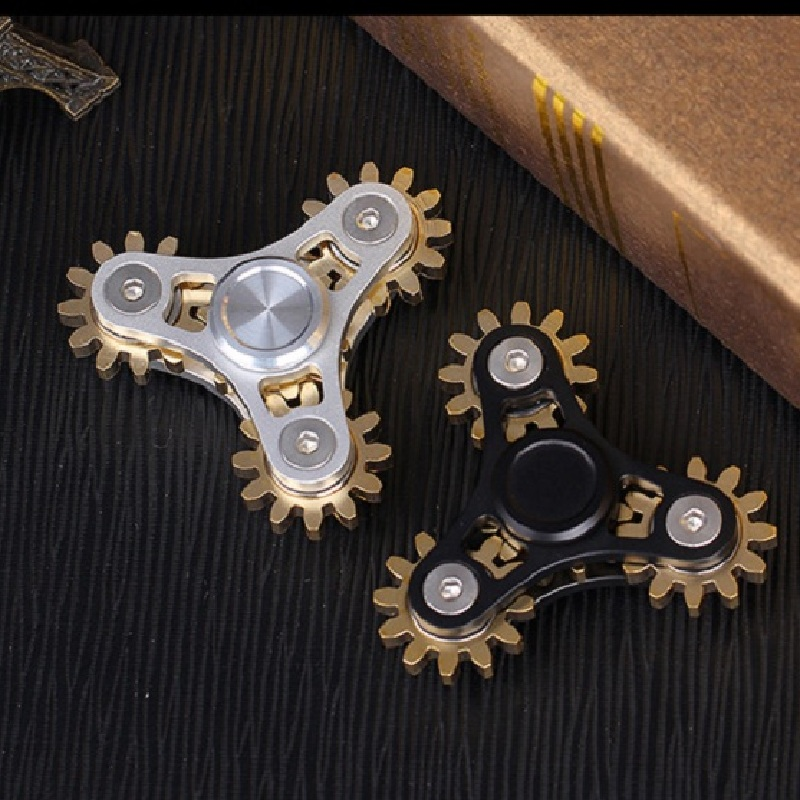 2 Colors Alloy Metal Copper 4 Gears Fidget Spinner Hand Spinner Finger Spinners Toys For Adult