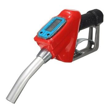 Doersupp Digital Flow Meter Indicator Fuel Gasoline Petrol Oil Refueling Gun Nozzle Aluminum Gas Station Refuel Injection Tools 1