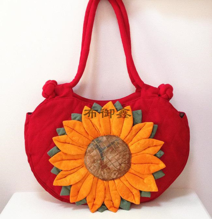 Yunnan Ethnic Original Hand Bags Sunflower Embroidery Cloth Embroidered Cotton Shoulder Bag Handbag Yu Xin In Top Handle From Luggage On