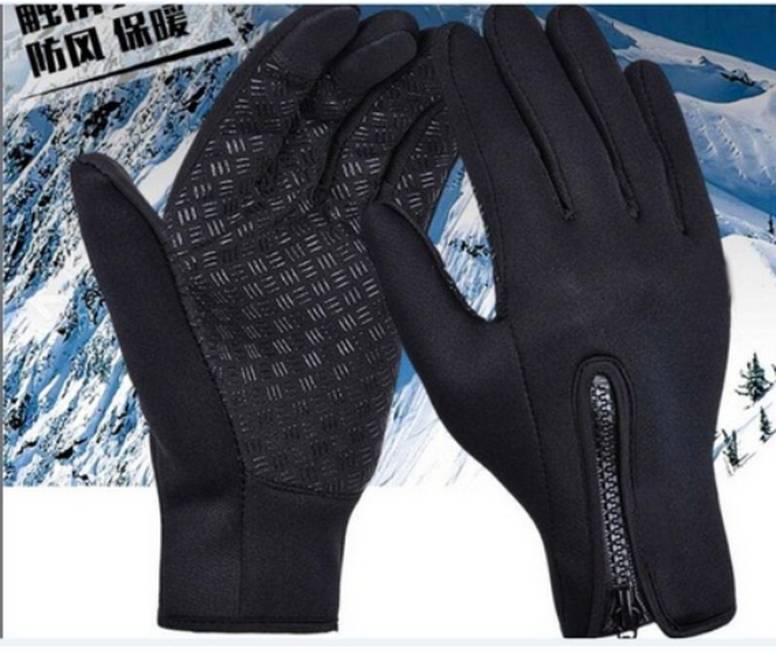 by dhl or ems 200pairs 2018 Gloves Full Finger Winter Windproof Sport Skiing Touch Screen Glove Military Motorcycle Black