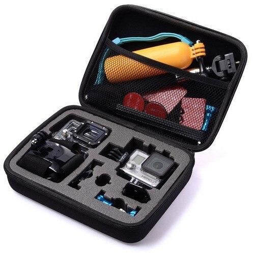 GoPro Noir Moyen taille De Stockage De Voyage collection sac pour Go Pro Hero 4/3 +/3/2/1 sj4000 Xiaomi yi Camera Action Accessoires