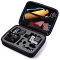 GoPro Preto tamanho Médio de Viagem coleção De Armazenamento Caso bag para Go Pro Hero 4/3 +/3/2/1 Xiaomi yi Acessórios Da Câmera Ação sj4000