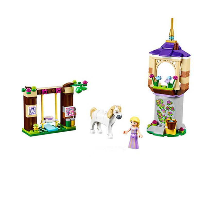 145 Pcs Bela 10564 Girls Friends Princess Series Rapunzel Castle Gardens Legoingly Building Blocks Bricks Toys Lepin Brinquedos 472pcs set banbao princess series castle building blocks girl friends favorite scene simulation educational assemble toys