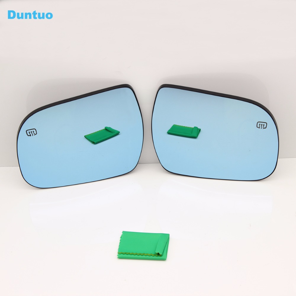 Blue Wing Mirror Glass With Base Heated Car Angle Wide Glare Proof Mirror For Toyota Sienna