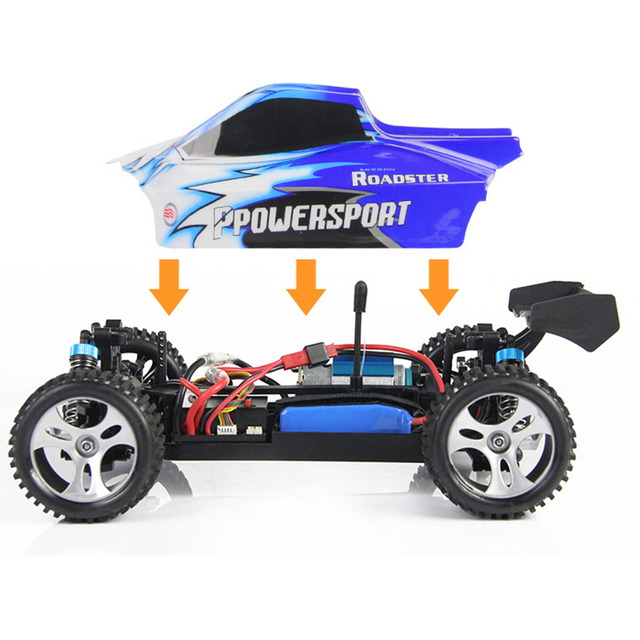 WLtoys A959 Electric Rc Car Nitro 1/18 2.4Ghz 4WD Remote Control Car High Speed Off Road Racing Car Rc Monster Truck For Kids 3