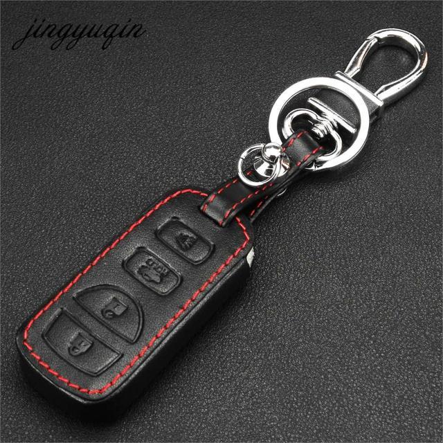 Jingyuqin 4BTN Car Remote Key Fob Case Leather Cover For Nissan Altima  Maxima Armada 35OZ Quest