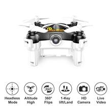 FPV Quadcopter with Camera WiFi Mini Drone Optical Hover and Headless Mode 2.4GHz APP Controller HD Video Recording