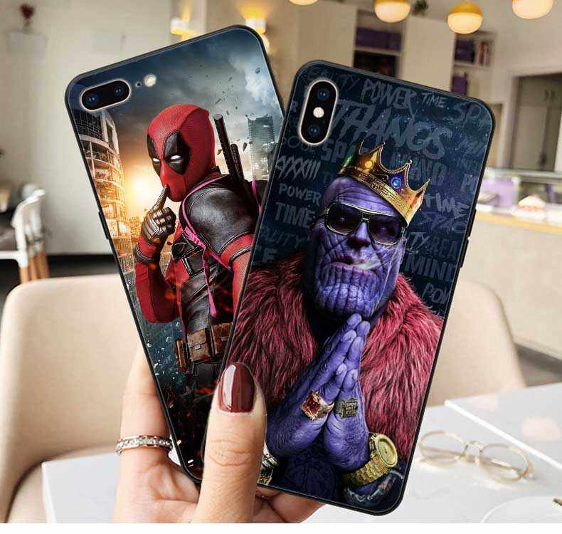 Marvel Venom Iron Man Spider-Man Batman Deadpool Soft TPU Cover Phone Case for iPhone X SE 5 5S 6 6S Plus 7 8 Plus XR XS MAX