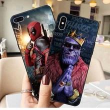 Marvel DC Comics Iron Man Spider-Man joker Batman Soft TPU Cover Phone Case