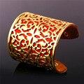 U7 africano jóias pulseiras de couro para as mulheres moda amarelo banhado a ouro envoltório cuff pulseiras bangles atacado h312