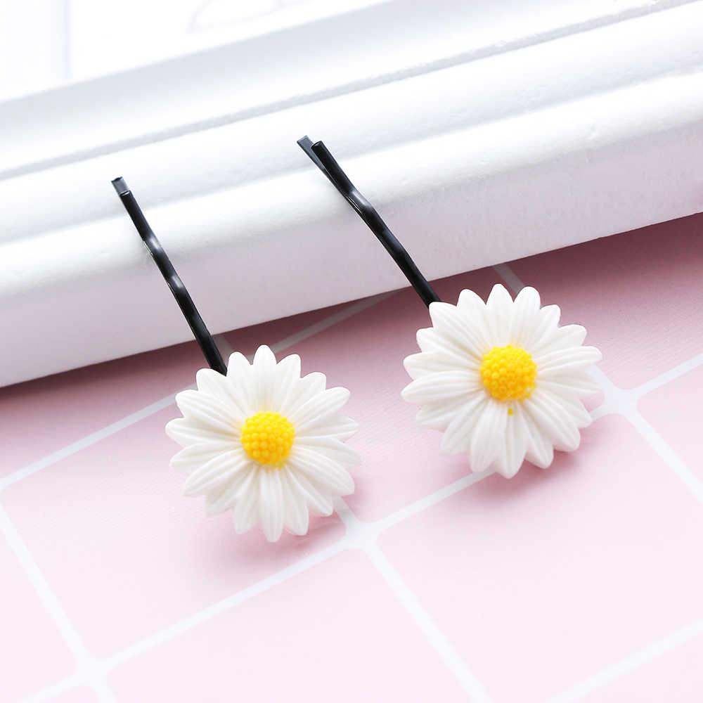 2PCs แฟชั่นเด็กน่ารัก Daisy ดอกไม้คลิปผมเชือกผมวงดนตรีเด็กผู้ถือหางม้าผมจัดแต่งทรงผมอุปกรณ์เสริม
