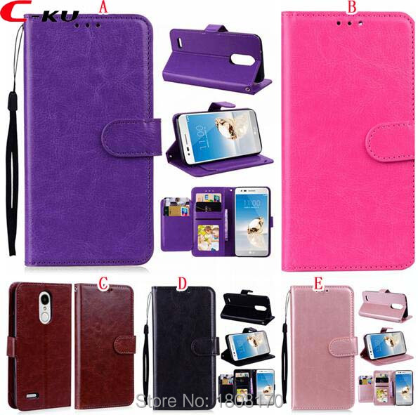 C-Ku Multifunction Cards Slot PU Wallet Leather Flip Case For LG K10 ( 2018 ) MS425 TPU Photo Frame Pouch Stand Cover 100pcs