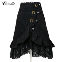 Free Shipping Steampunk Clothing Women S Large Size Fashion Design Black Cotton Lace Xl Big Goth