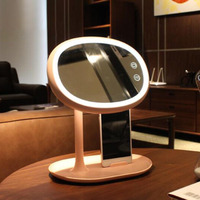 led makeup light Mirror Cosmetic table Lamp USB touch tact switch Bedroom Lamps Adjustable Phone holder Bracket Unique Gift