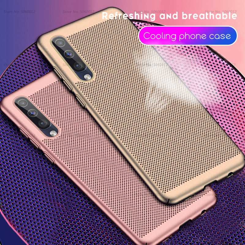 Cooling Phone Case For Samsung Galaxy A50 A40 A70 A10 A20 A30 M10 M20 M30 on A 50 30 40 70 2019 M 20 10 30 Case Ultra Thin Cover