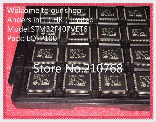 50 قطعة/الوحدة STM32F407VET6TR STM32F407VET6 STM32F407 LQFP100