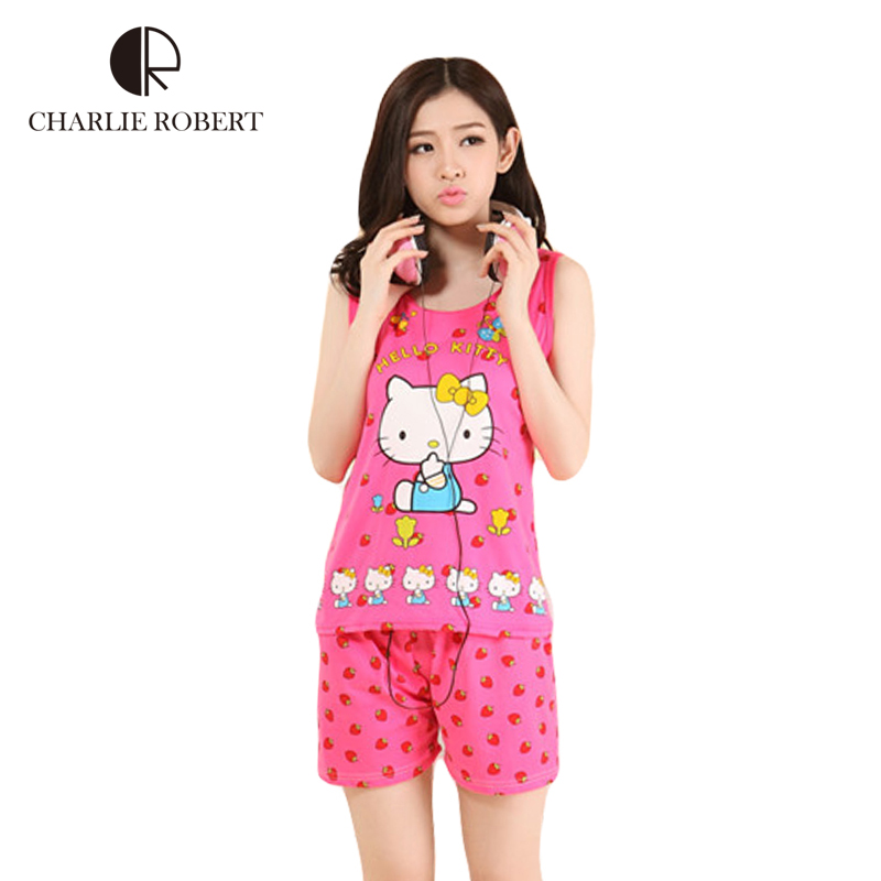 Aliexpress.com : Buy 2016 New Womens Pajamas Hello Kitty Sleepwear ...