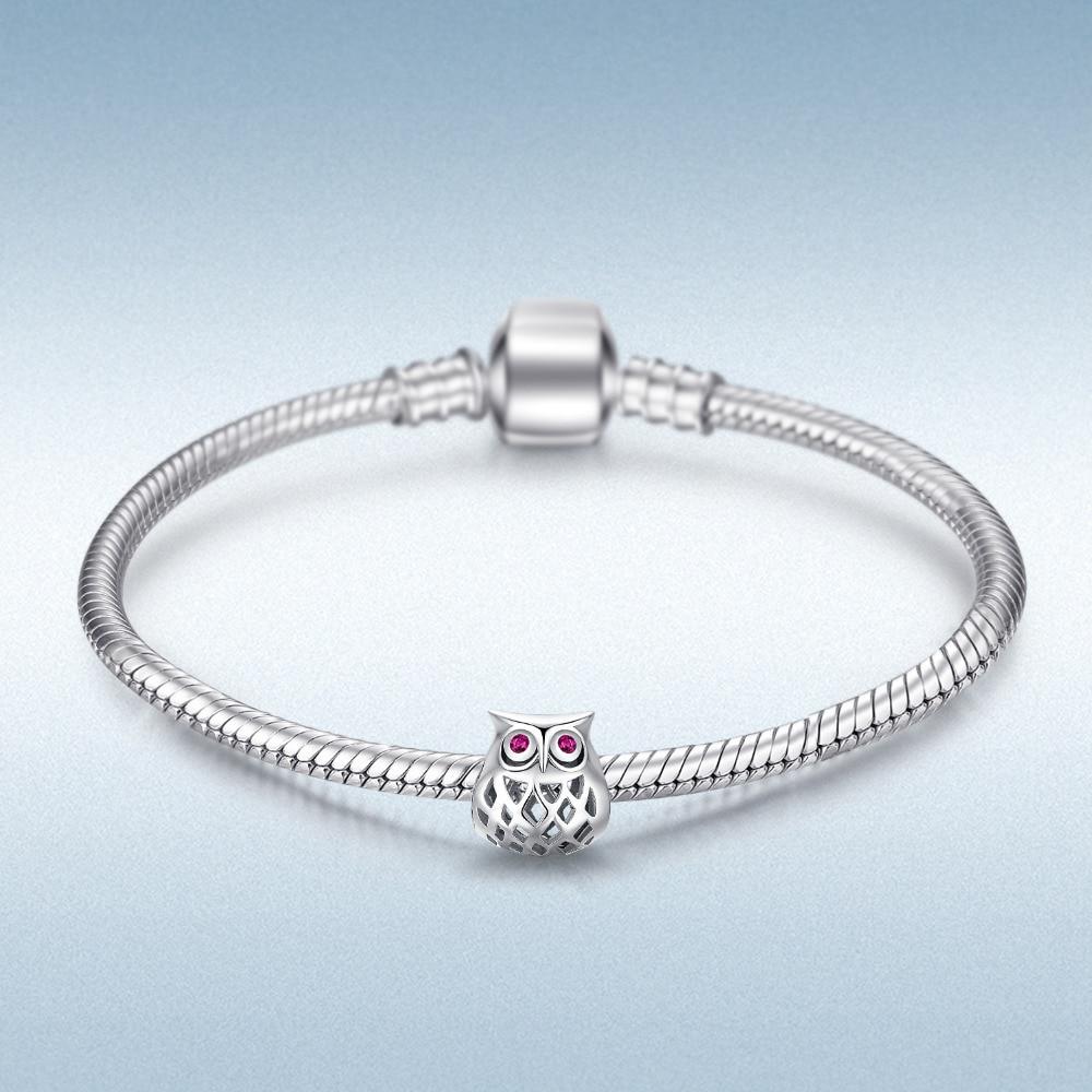 Owl Charm Beads Fit Bracelets Hot Selling Gift For Women  1