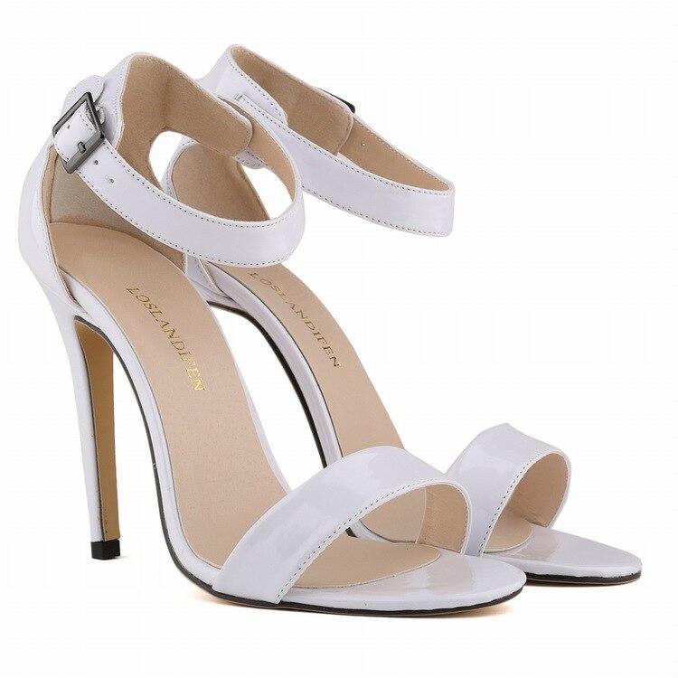 Sandals Ankle wrap peep toe thin heels Women Pumps shoes 11cm High heels women summer Shoes Woman pumps size 35-42 single sided blue ccs foam pad by presta