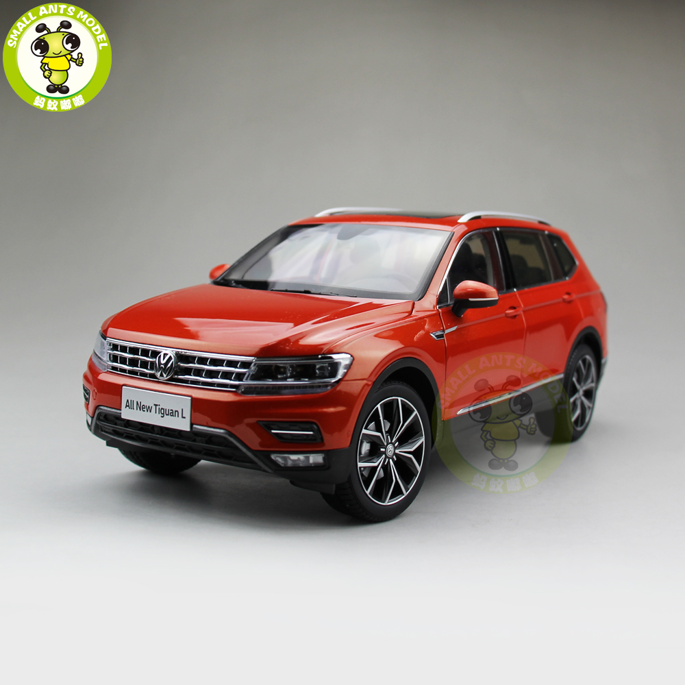 1 18 vw volkswagen tiguan l 2017 suv diecast metal suv car model gift hobby collection orange in. Black Bedroom Furniture Sets. Home Design Ideas