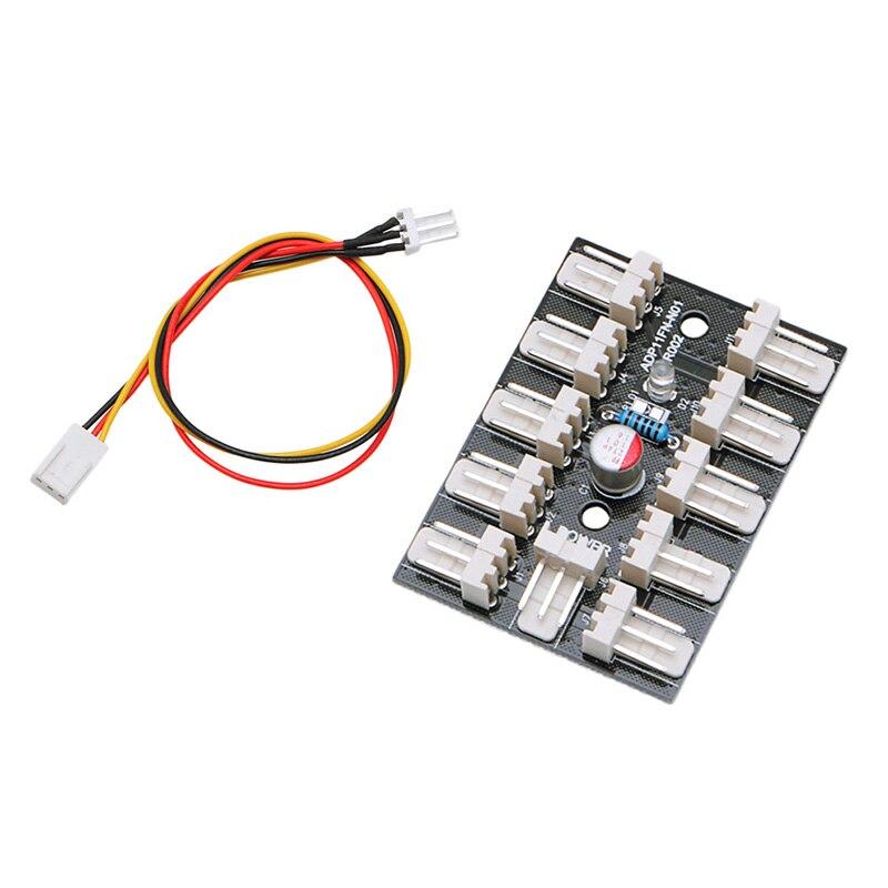 10-Way 3-Pin PWM Fan Hub PC CPU Host Game Water Cooling Splitter Adapter Case