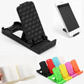 1000pcs/lot Universal Mobile Phone stents Mini Desk Station Plastic Stand Holder with Opp Bag For iPhone Samsung Xiaomi LG