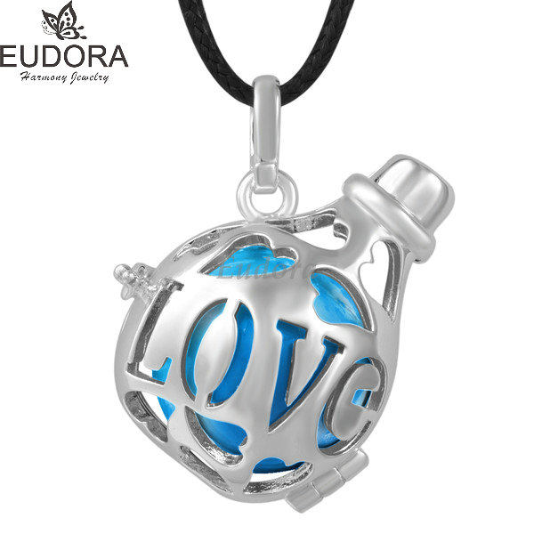 Copper Metal Harmony Bola Ball Love Bottle Locket Cage Pendent 18 mm Chime Ball for Pregnancy Angel Caller Mexican Bola Jewelry