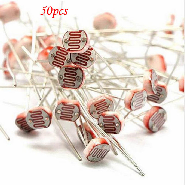 50pcs GL5516 5516 Light Dependent Resistor LDR 5MM Photoresistor-in ...