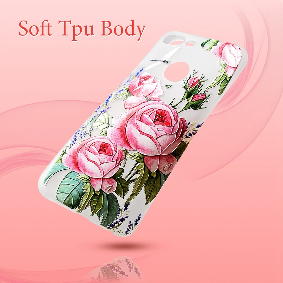 3D Relief Flower TPU Case For On Honor 9 9 lite Soft Silicone Case Back Cover Case for Huawei P20 P10 lite NOVA 2 Case           (5)
