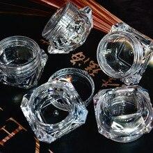 סיטונאי 5g (5ml, 0.17oz) ברור 100Pcs קוסמטי ריק צנצנת פוט צללית קרם פנים מיכל שפתון תיבת (יהלומים)