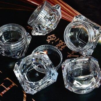 цена на Wholesale 5g (5ml, 0.17oz) Clear 100Pcs Cosmetic Empty Jar Pot Eyeshadow Makeup Face Cream Lip Balm Container Box (Diamond)