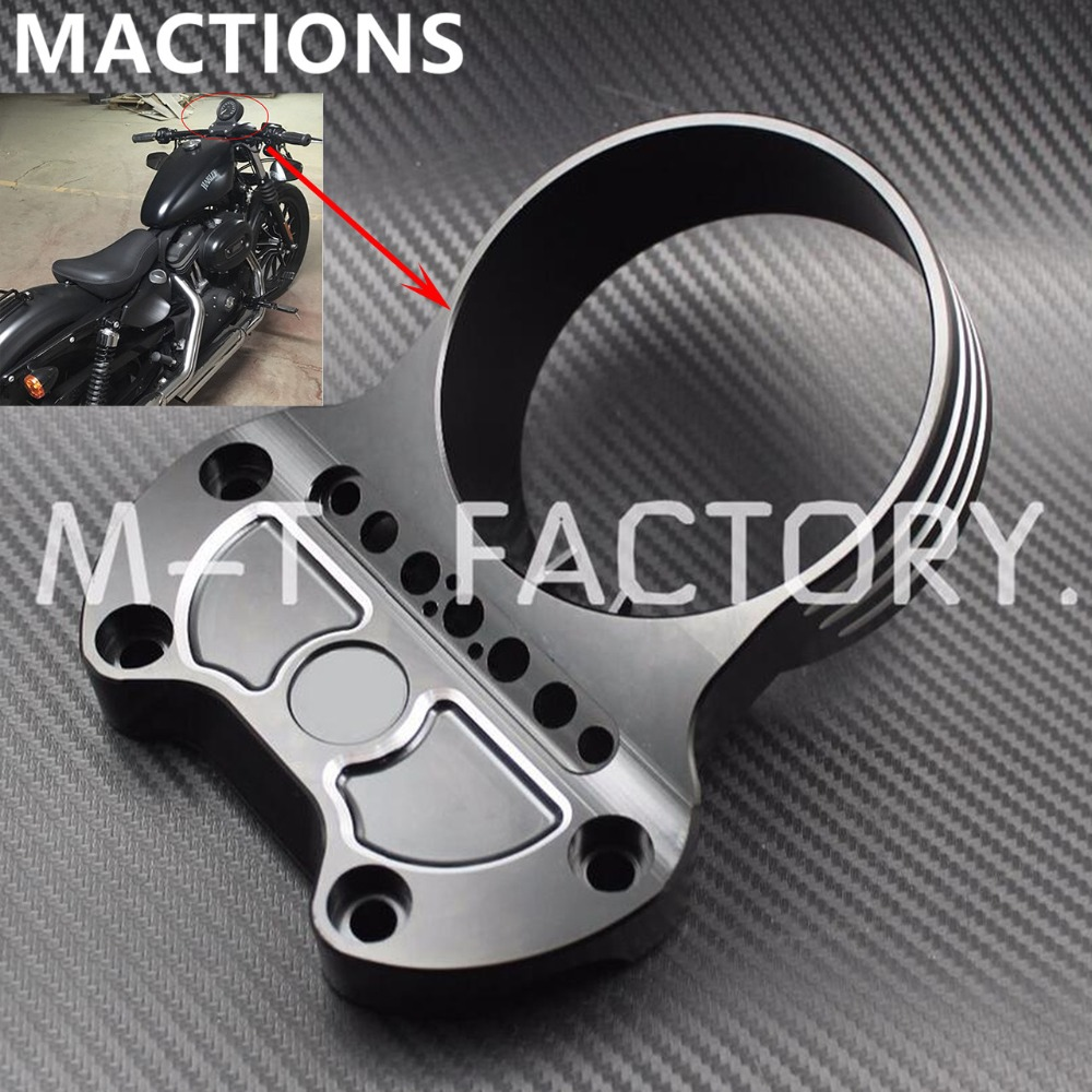Motorcycle Black Instrument Bracket For Harley Sportster XL883 Custom Low 1200 CNC Aluminum