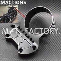 Motorcycle Black Instrument Bracket For Harley Sportster XL883 Custom Low 1200 CNC Aluminum