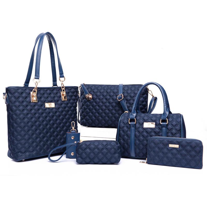 18 Women Bag Set Handbags Shoulder Bags Satchel Clutch Handbag Bolsas Famous Brands Composite Tote Ladies Crossbody Bag 6pcs 9