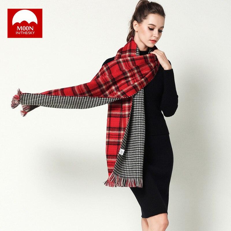 2018Winter luxury Brand Plaid Cashmere Scarf Women Oversized Blanket Scarf Wrap Warm Wool Scarf Women Pashmina Shawl and Scarves