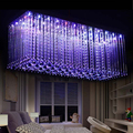 new design RGB LED crystal light modern dinning room crystal chandelier with remote control