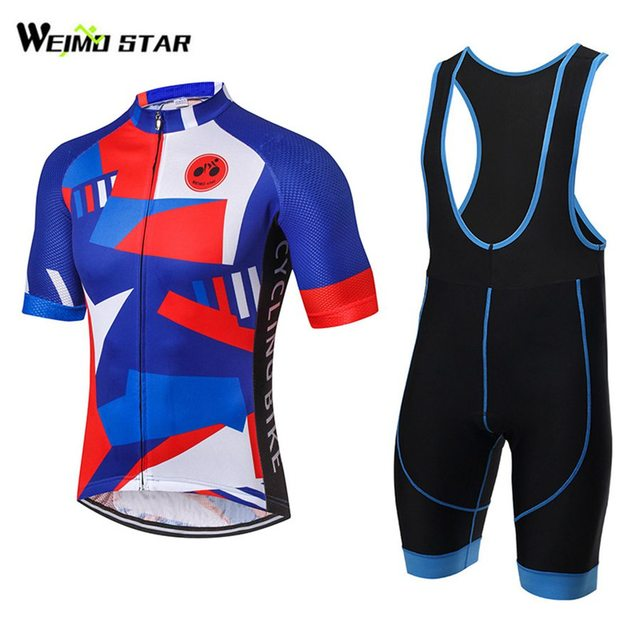 Cycling Jersey WEIMOSTAR Summer Pro Bicycle Wear Men Outdoor Bike Jersey  Tops Breathable Cycling Bib Shorts 0a80d667d