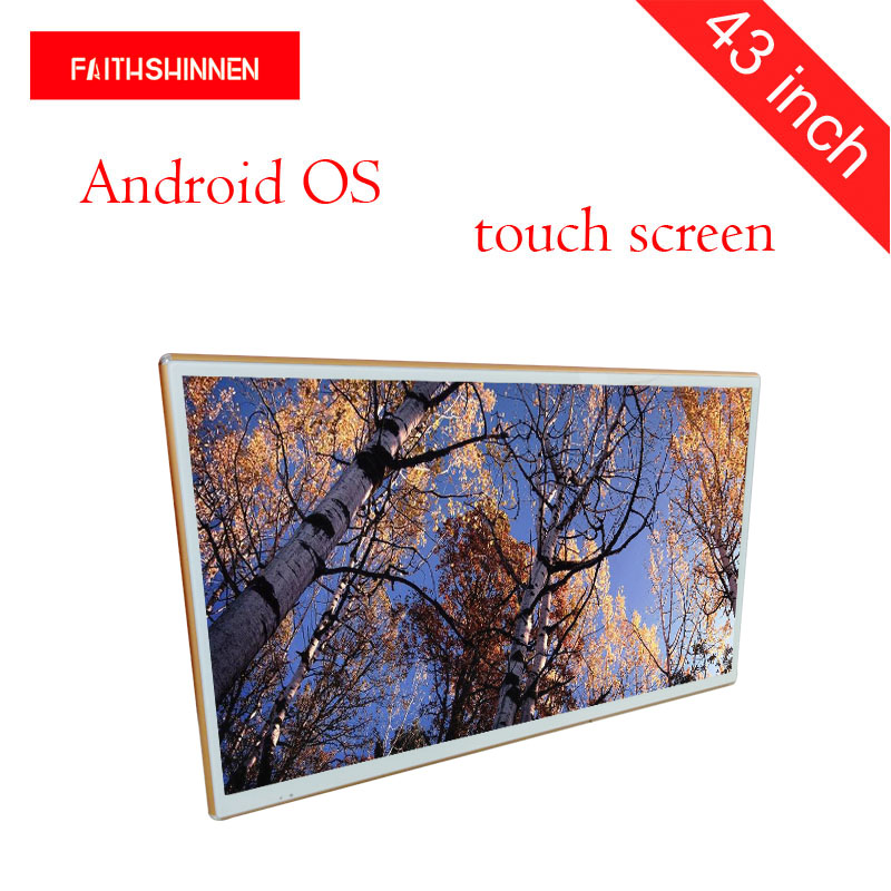 43 inch wall mounted display signage Android led advertising digital display board wall mounted lcd digital signage цены