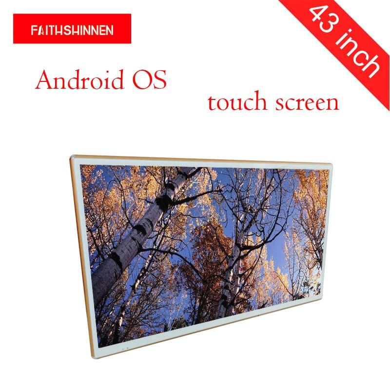 Affichage numérique d'affichage à cristaux liquides de publicité d'écran d'affichage à cristaux liquides androïde d'affichage fixé au mur de 43 pouces