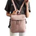 Simple Style Backpack Women PU Leather Shoulder Bag For Teenage Girls Fashion Vintage Rucksack Designer School mochila XA568H