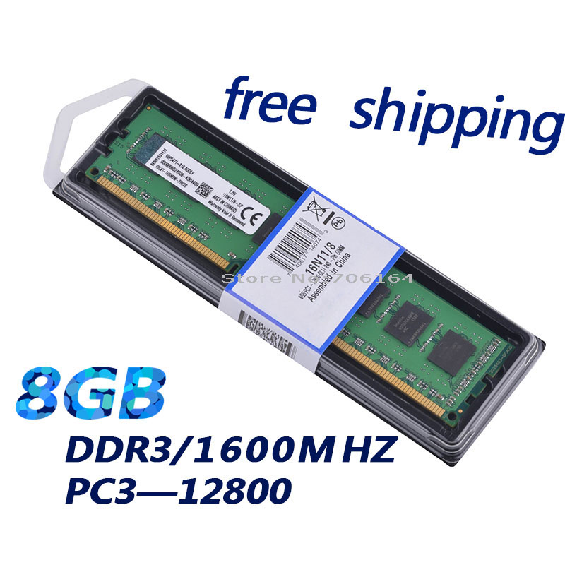 ( for A-M-D and ALL ) desktop memory RAM DDR3 8Gb1600Mhz work for 1333Mhz / 8G very good quanlity -- 100% Brand and New