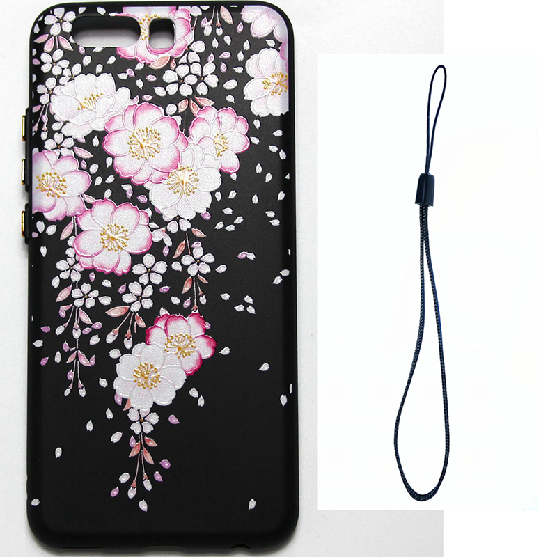 3D Relief flower silicone  case huawei p10 (3)