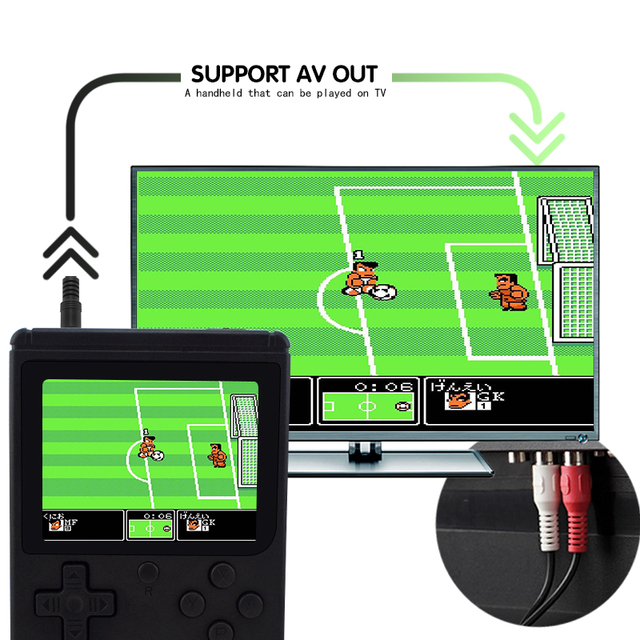 Data Frog Retro Mini Video Game Console Built In 168/200 Game 8 Bit 3.0 Inch Games AV Out Portable Handheld Game Gift For Kid